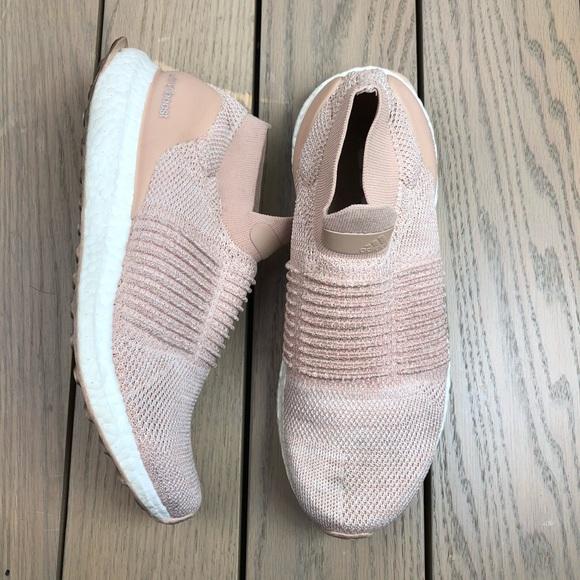 Adidas Ultra Boost Laceless Ash Pearl